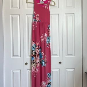 Pink maxi length sundress